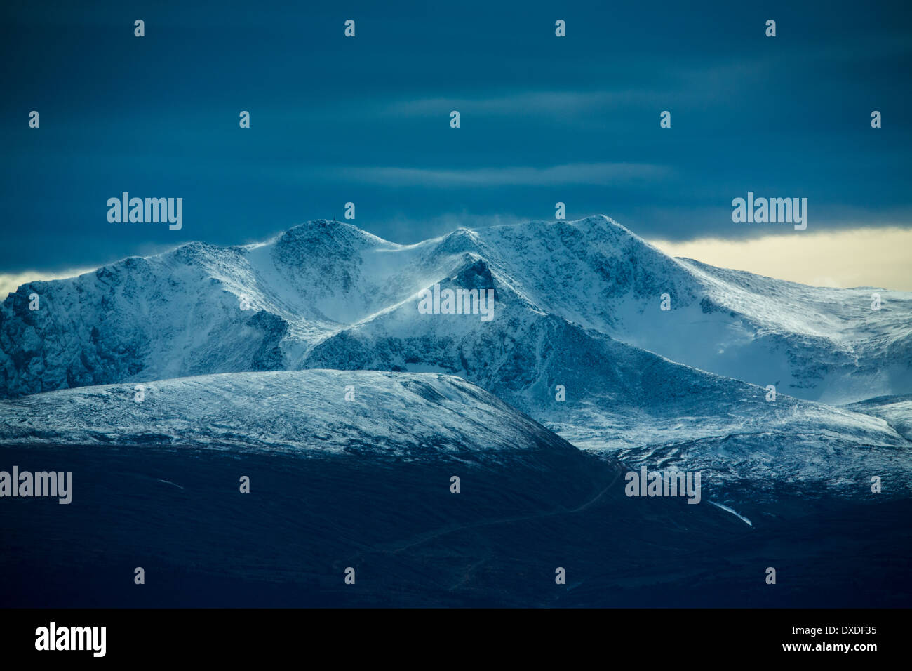 Montana Mountain, nr Carcross, au Yukon, Canada Photo Stock