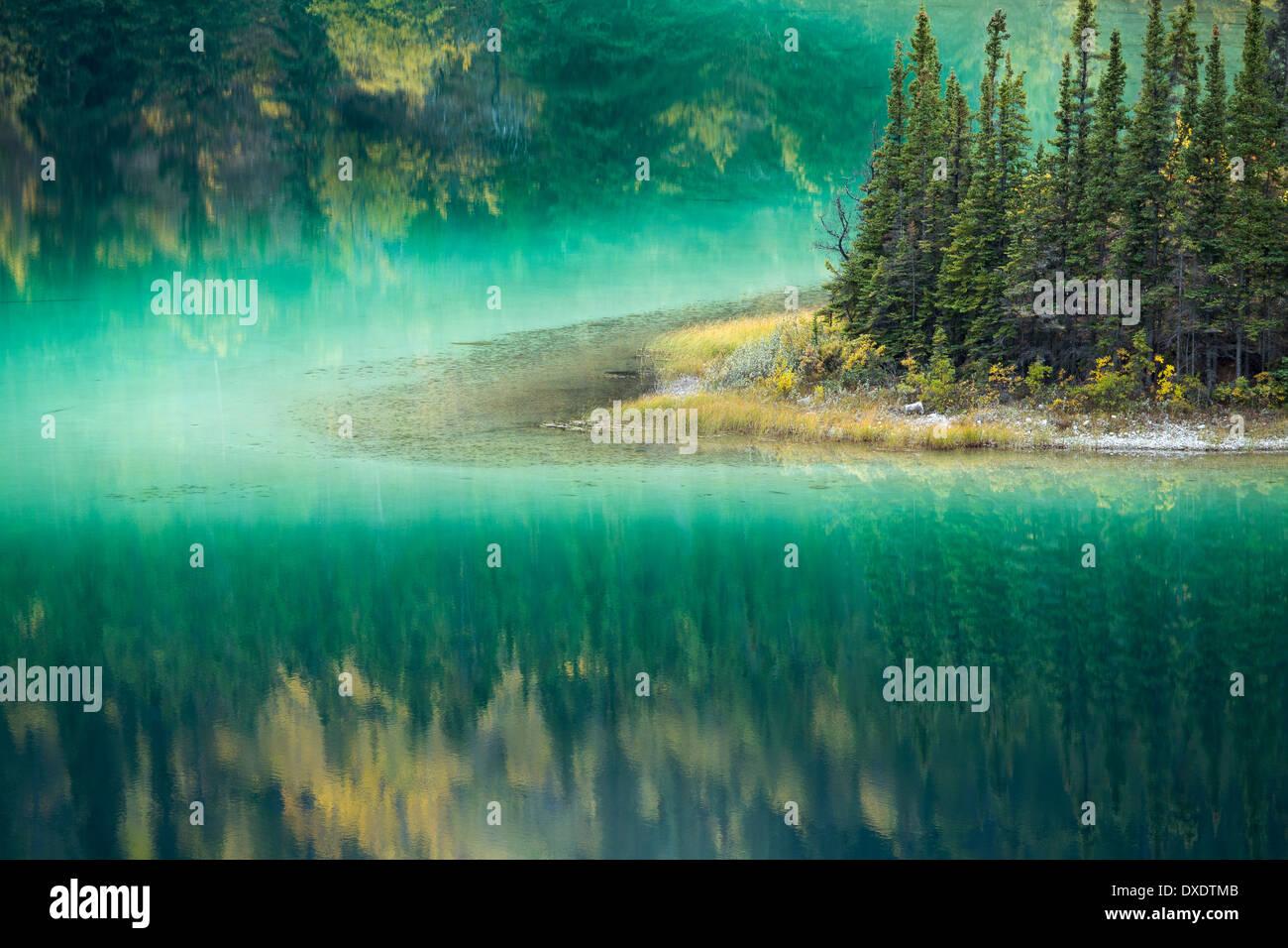 Le lac Emerald, nr Carcross, au Yukon, Canada Photo Stock