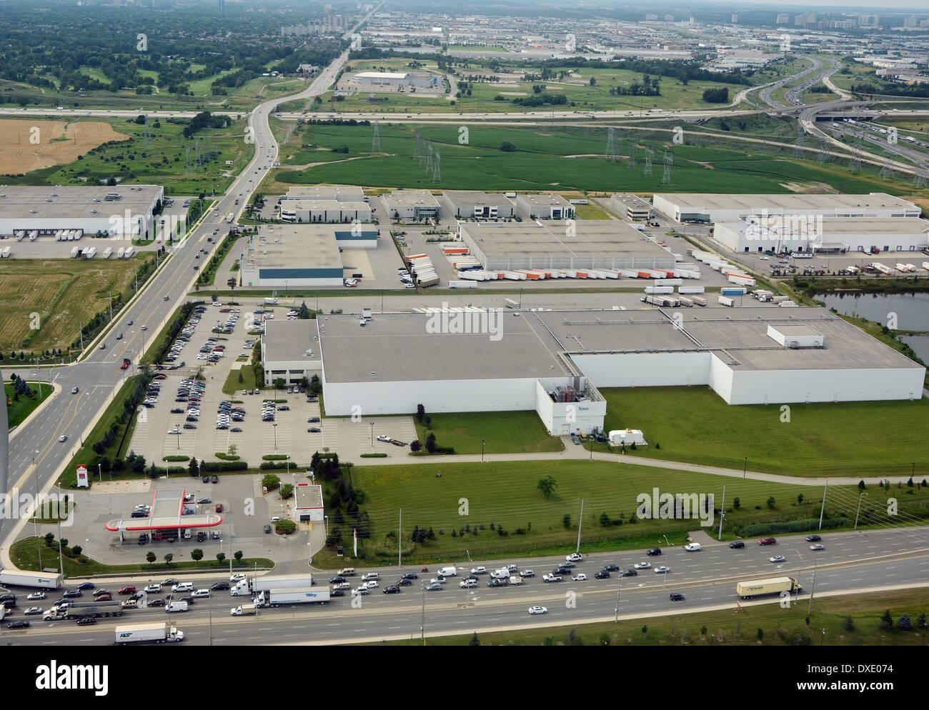 Zone industrielle près de Toronto, Canada Photo Stock