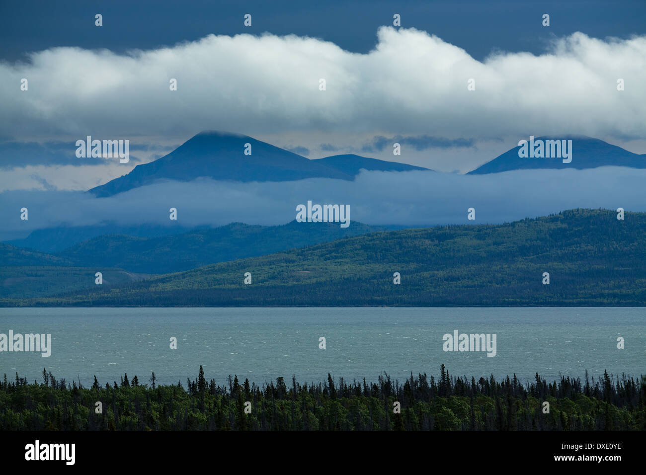 Le lac Dezadeash, Territoire du Yukon, Canada Photo Stock