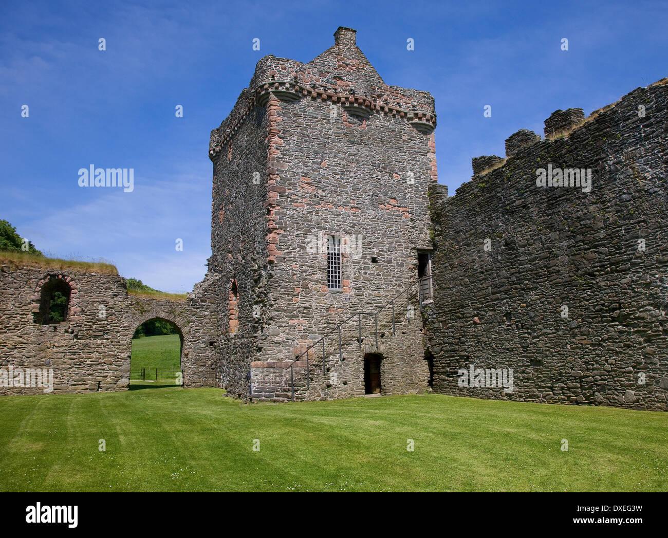 Le 12/13 siècle château de Skipness, à l'origine par l'MacSweens, Skpness, Argyll Photo Stock