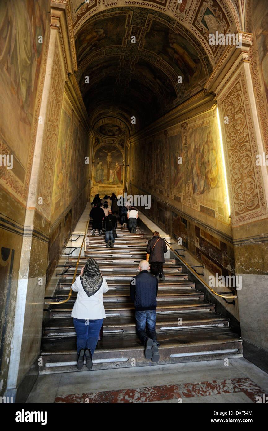 L'Italie, Rome, San Giovanni in Laterano, scala santa de escaliers) Photo Stock