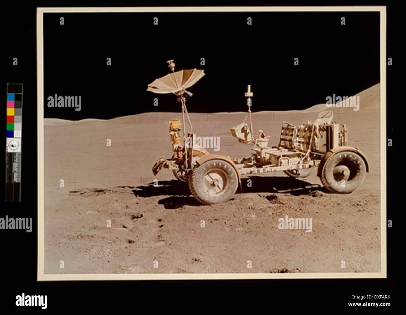 Rover lunaire (LRV) au cours de la mission Apollo 15, juillet, 1971 Photo Stock