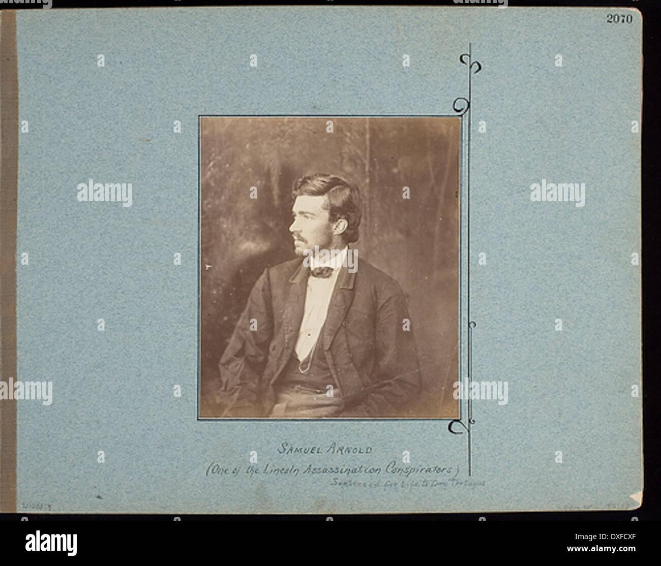 Samuel Arnold. (L'un des conspirateurs Assassinat de Lincoln) Samuel Arnold. (L'un des conspirateurs) assassinat Banque D'Images