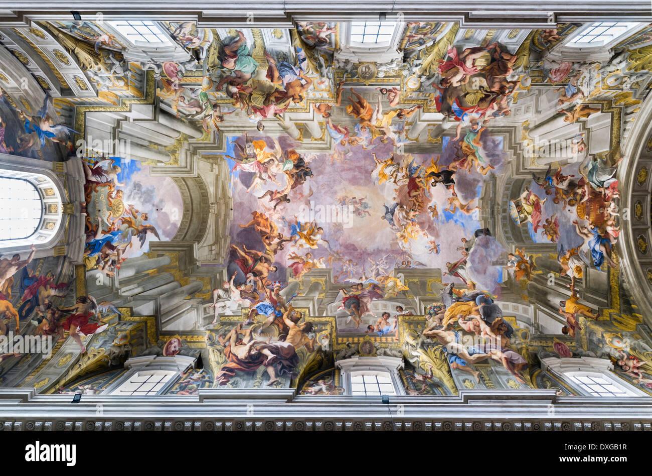 Trompe L Il Baroque Fresque Au Plafond Le Triomphe De Saint Ignace