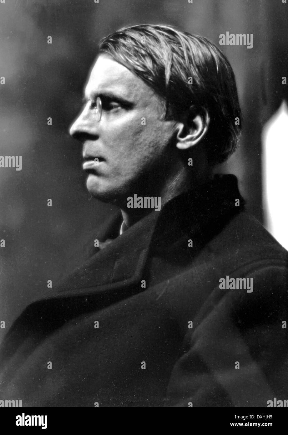 W.B.Yeats (1865-1939) poète irlandais vers 1925 Photo Stock
