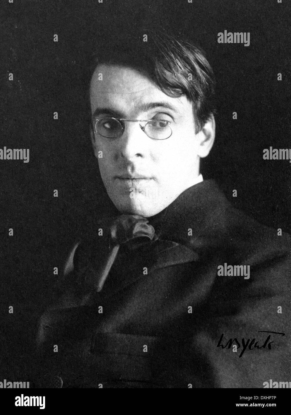 W.B. YEATS (1865-1939) poète irlandais en 1903. Photo Alice Boughton Photo Stock