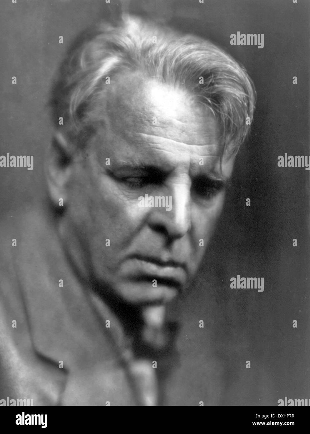 W.B. YEATS (1865-1939) poète irlandais en 1933. Photo Pirie MacDonald Photo Stock