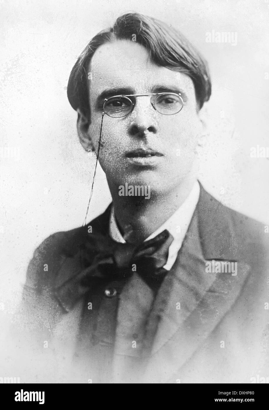 W.B. YEATS (1865-1939) poète irlandais vers 1900 Photo Stock