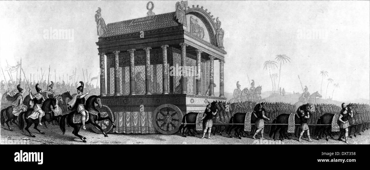 Alexandre le Grand, procession funéraire Photo Stock