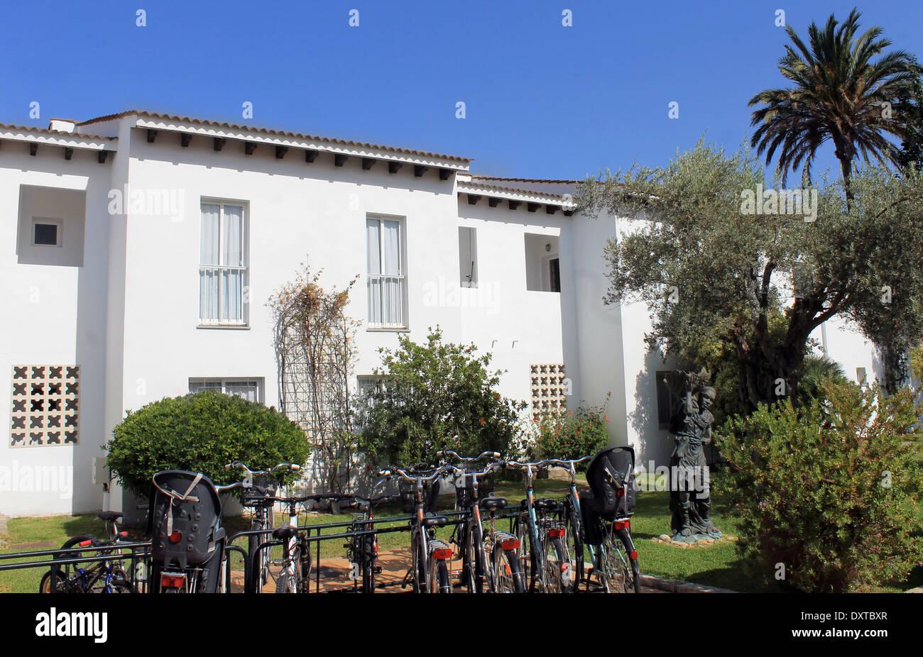 Appartements de vacances en espagnol tourist resort, Majorque, Espagne. Photo Stock