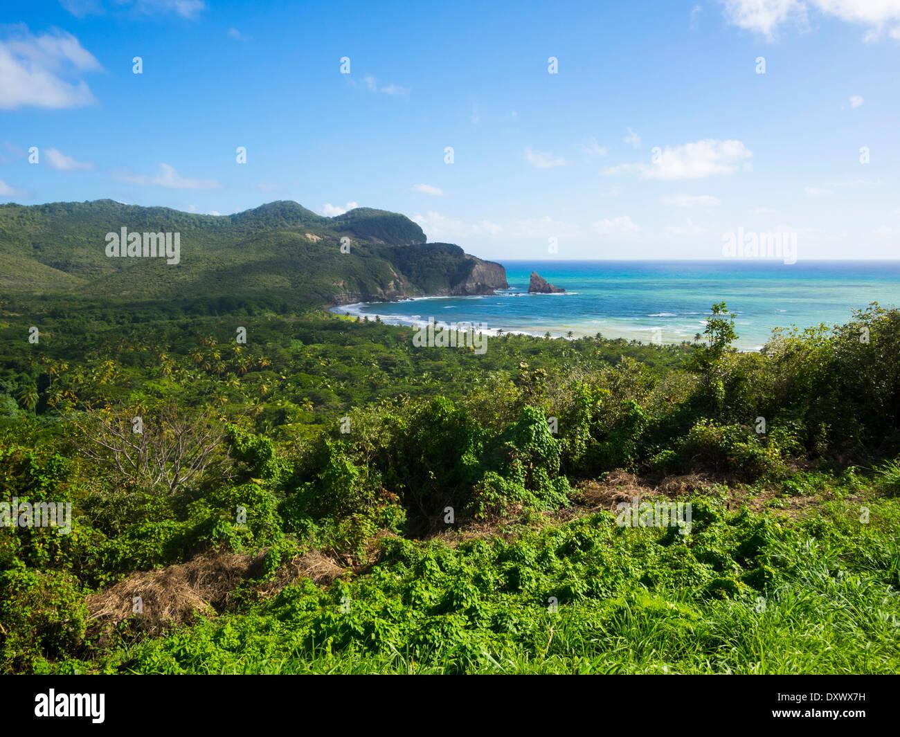 Fond d'Or, près de la baie de Castries Dennery, trimestre, Sainte-Lucie, îles du Vent, Petites Antilles Photo Stock