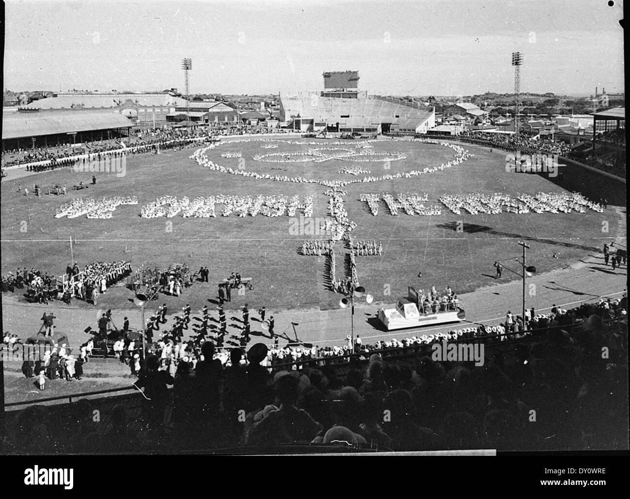 """""""Nous chérissons le Rosaire' tableau, Sydney Showground, 17 mars 1937, par Sam Hood Photo Stock"""