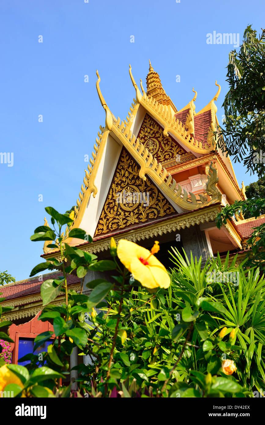 Bâtiment dans le Palais Royal, Phnom Penh, Cambodge, Indochine, Asie du Sud-est Banque D'Images