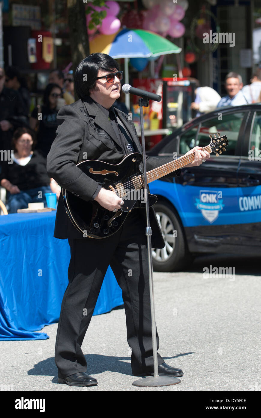 Roy Orbison imposteur. Photo Stock