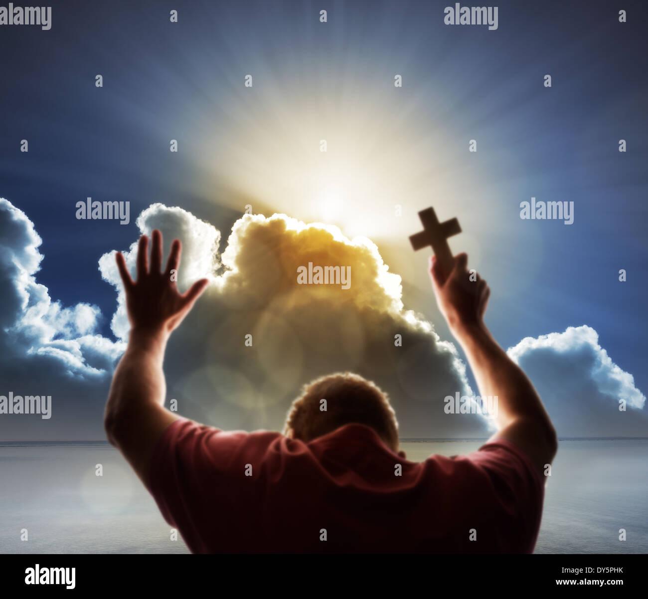 Le culte, l'amour et la spiritualité Banque D'Images