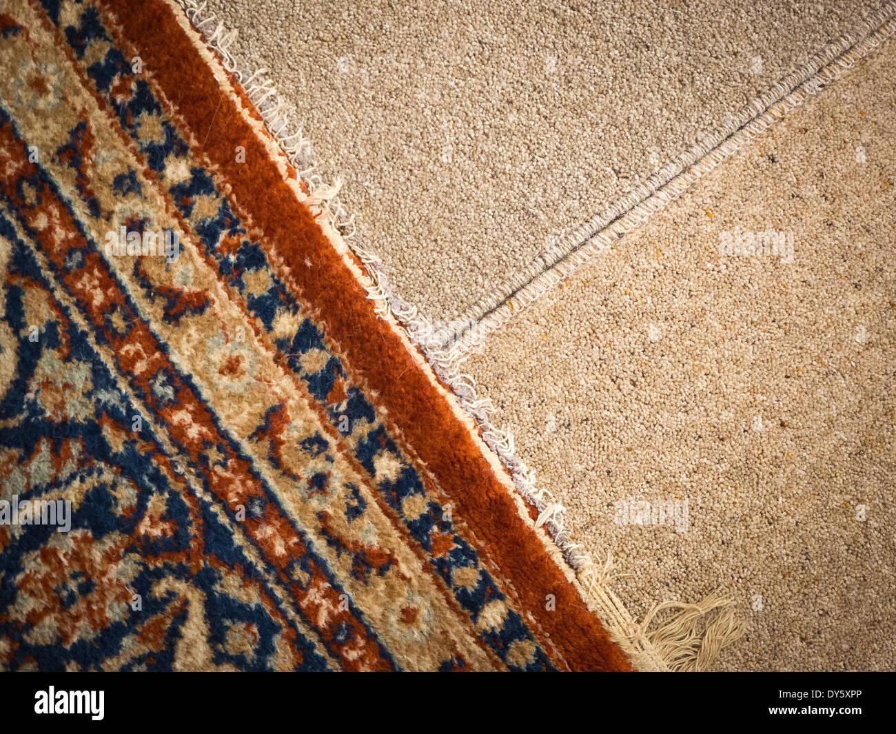 Sélection de tapis pour faire correspondre les couleurs Photo Stock
