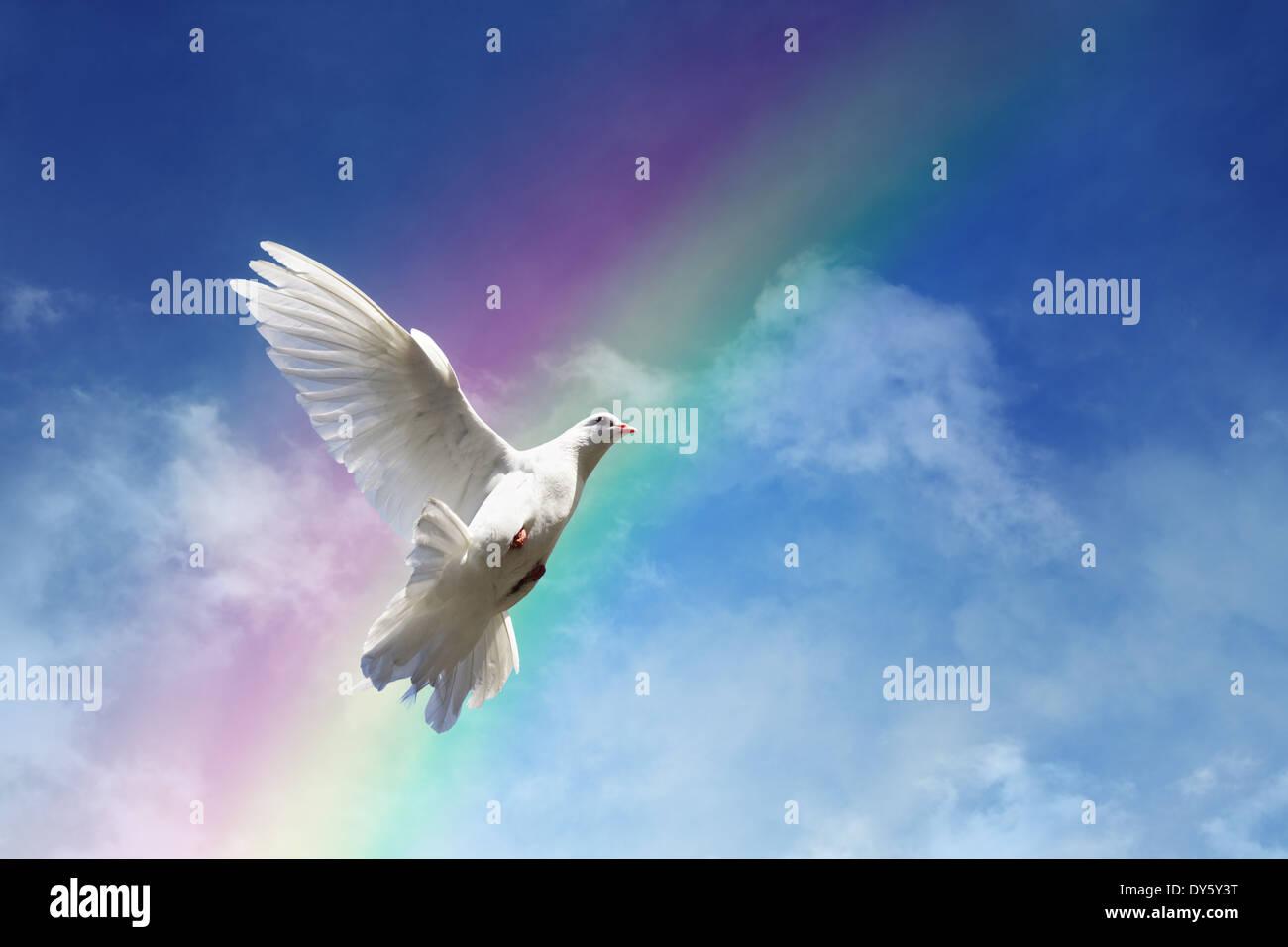 La liberté, la paix et la spiritualité Photo Stock