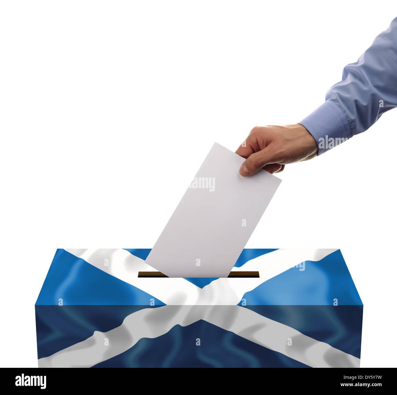 Référendum sur l'indépendance écossaise Photo Stock
