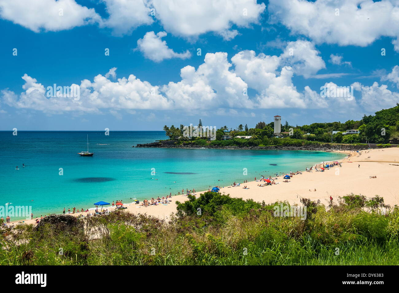 Waimea Bay, North Shore, Oahu, Hawaii, United States of America, Pacifique Banque D'Images