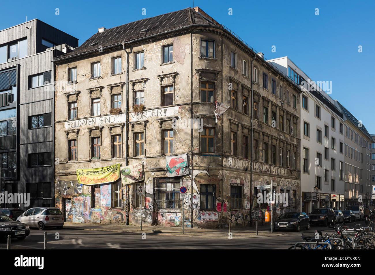 La ligne 206, squat à Berlin, Allemagne Photo Stock
