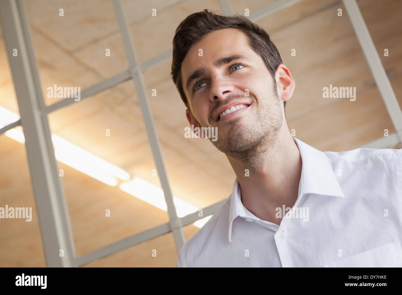 Casual businesswoman expression heureuse Photo Stock