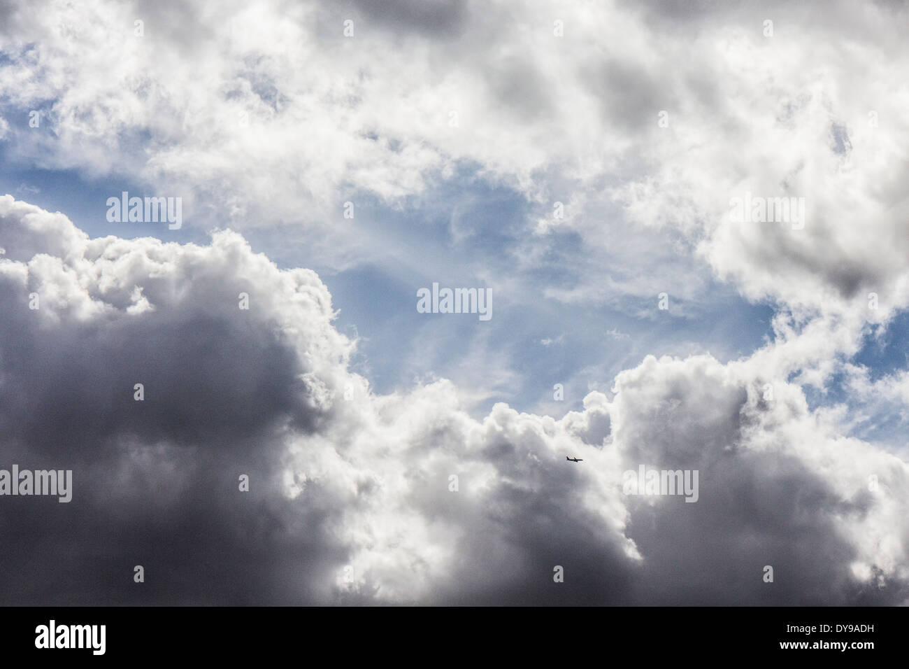 Les nuages orageux en avion Photo Stock