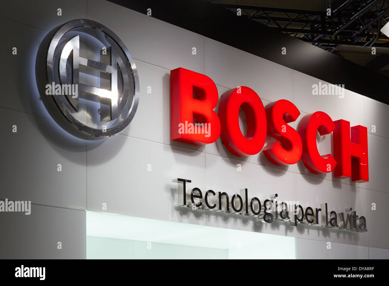 Stand Bosch lors du Salone del Mobile, salon international du meuble de Milan Photo Stock