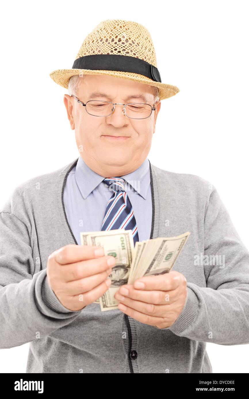 Les cadres supérieurs représentant l'argent comptant Photo Stock