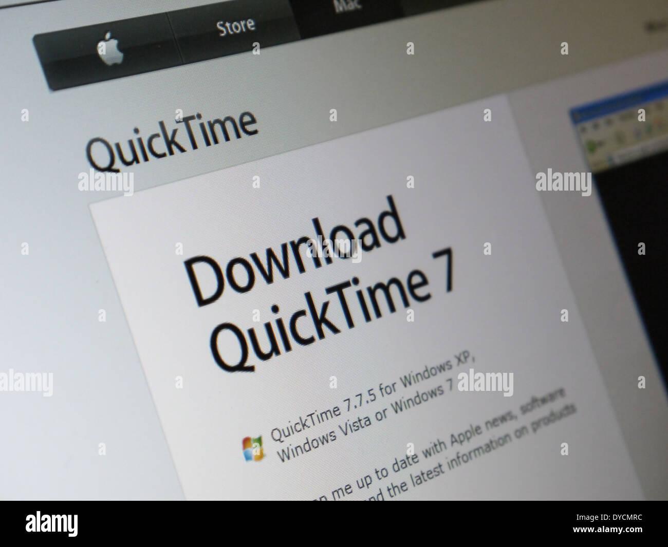 Télécharger Quicktime 7 Photo Stock