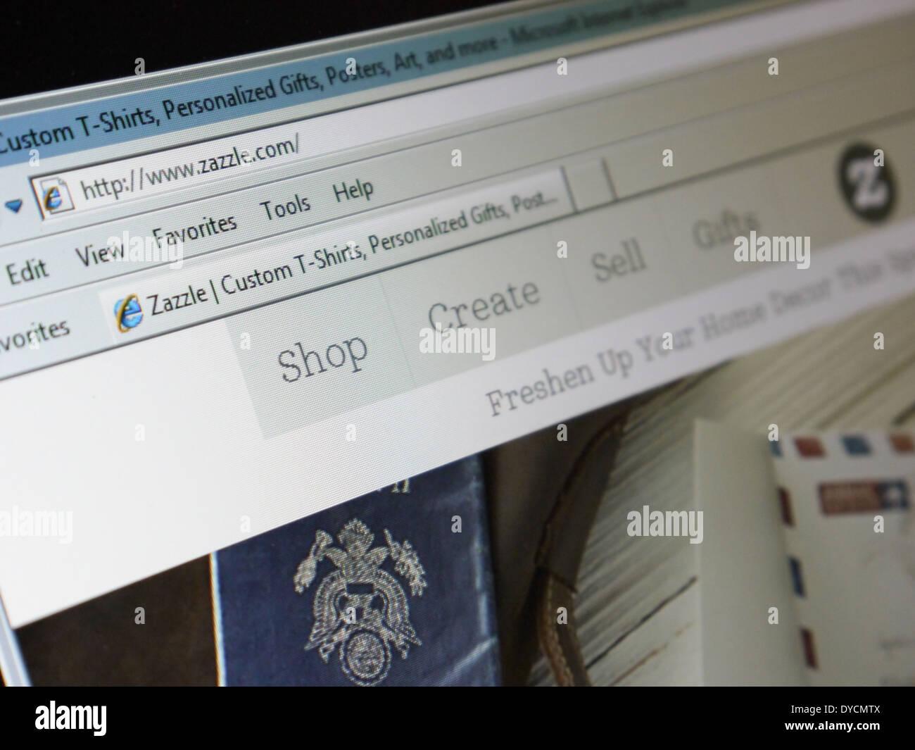 Site web détaillant point maison zazzle Photo Stock
