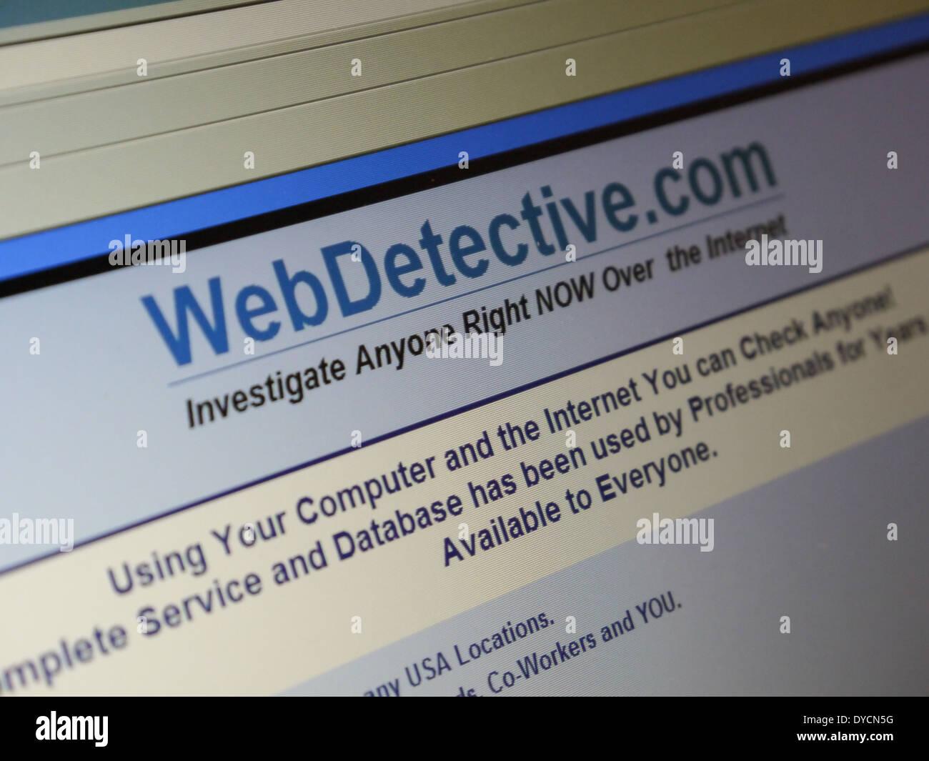 détective du Web Photo Stock