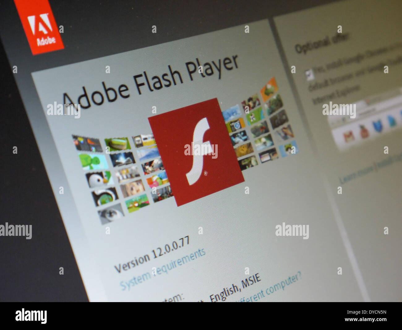 Télécharger flash player Photo Stock