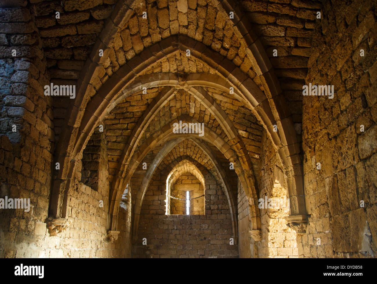 La entrée de la vieille ville de Césarée, en Israël. Photo Stock