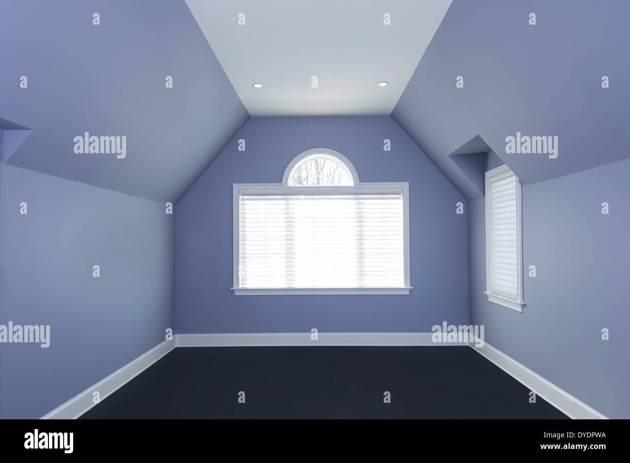Chambre géométrique vide Photo Stock