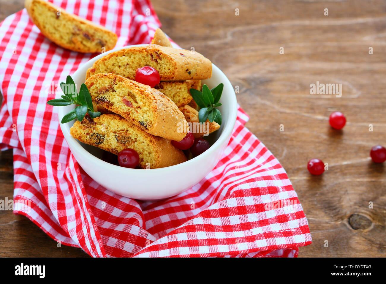 Biscotti italien traditionnel, de l'alimentation libre Photo Stock