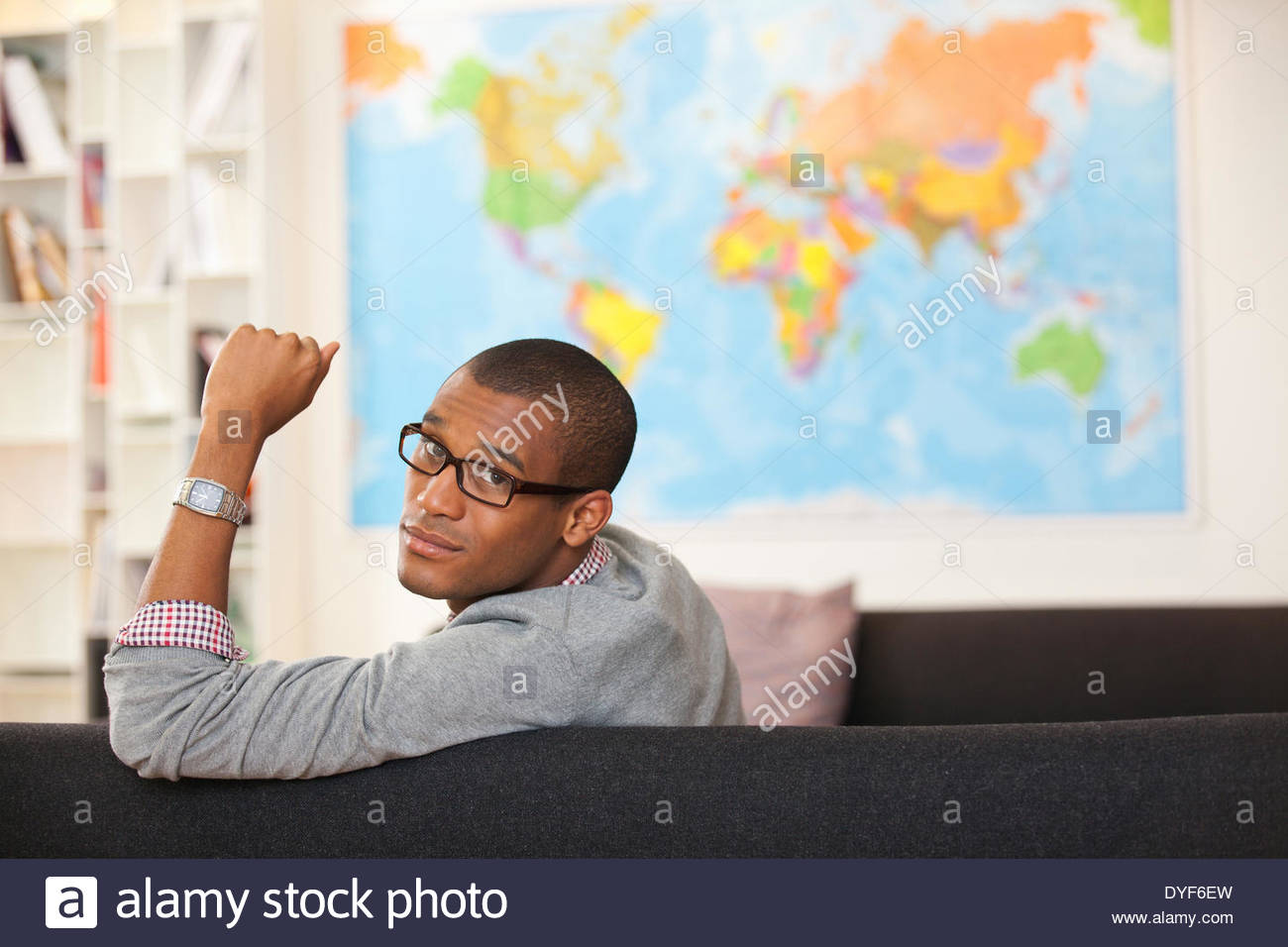 Portrait of smiling businessman in office Photo Stock
