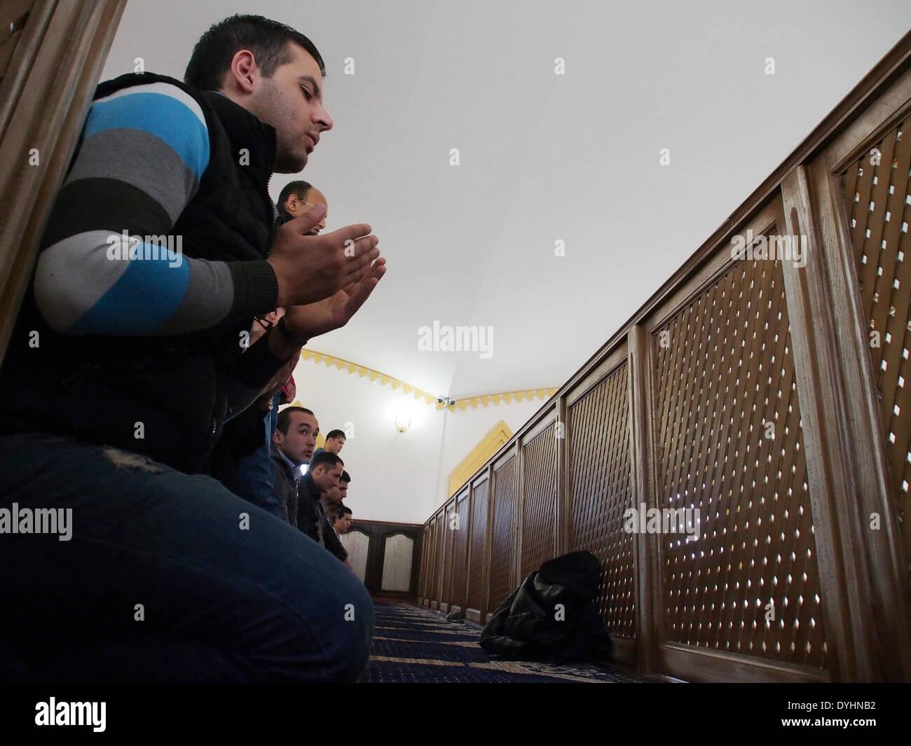Lugansk ukraine. 18 avril 2014. mosquée musulmane à paris dans