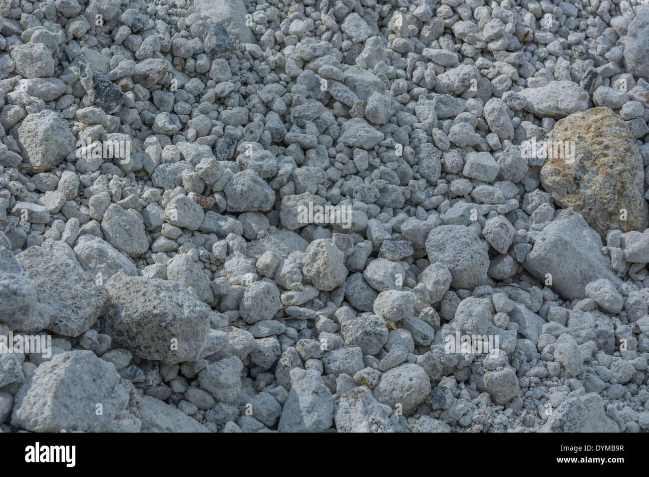 """Ballast de granit. Concept """"chute sur le sol rocheux, des"""