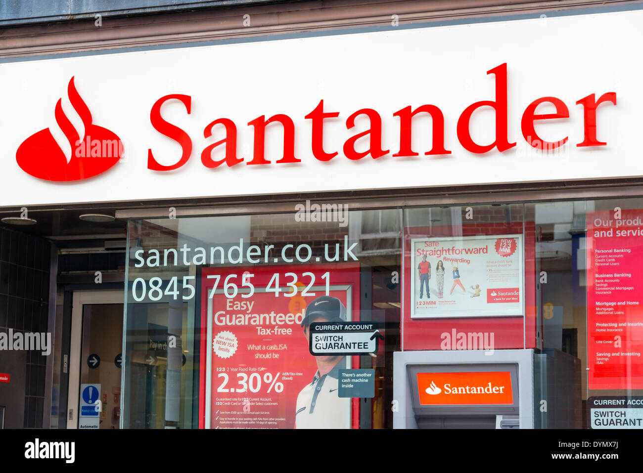 La Banque Santander, au Royaume-Uni. Photo Stock