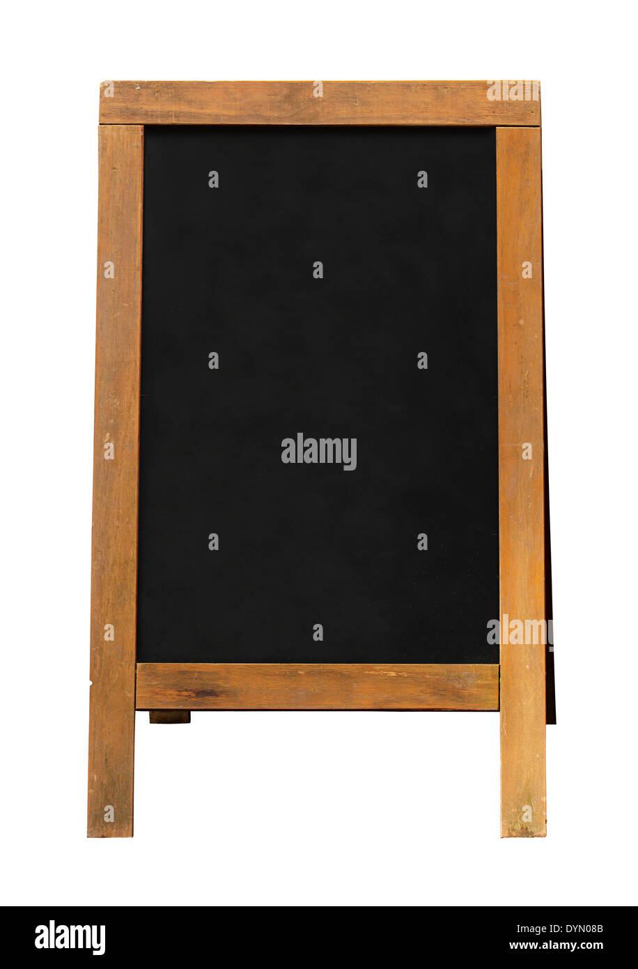 Tableau noir un cadre signe avec cadre en bois et la zone vide pour votre message de ventes ou d'une offre. Banque D'Images