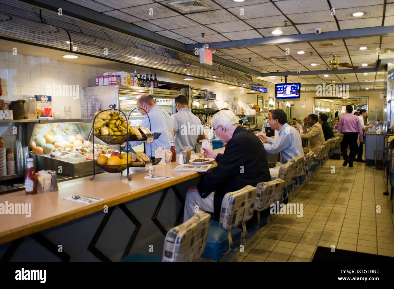 L'un des restaurants typiques de la région de Chelsea. Les quartiers de la ville de New York Midtown et Chelsea Banque D'Images