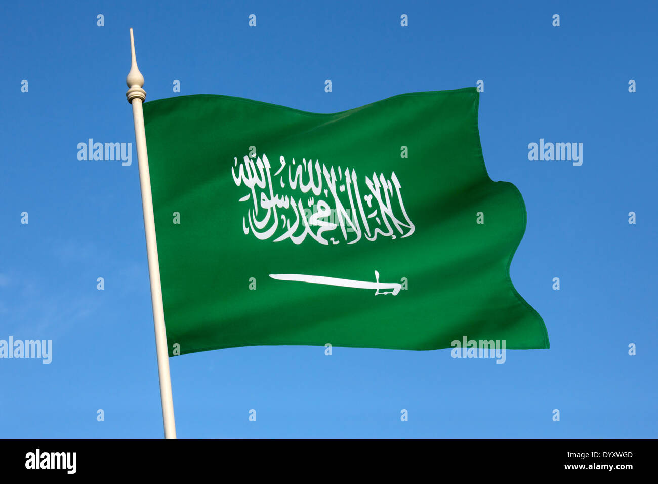 Le drapeau de l'Arabie Saoudite Photo Stock