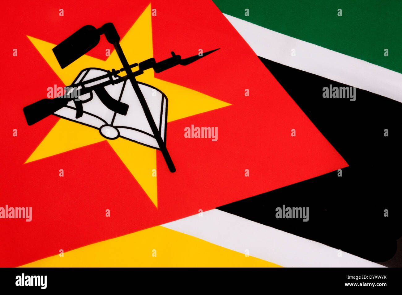 Le drapeau du Mozambique Photo Stock