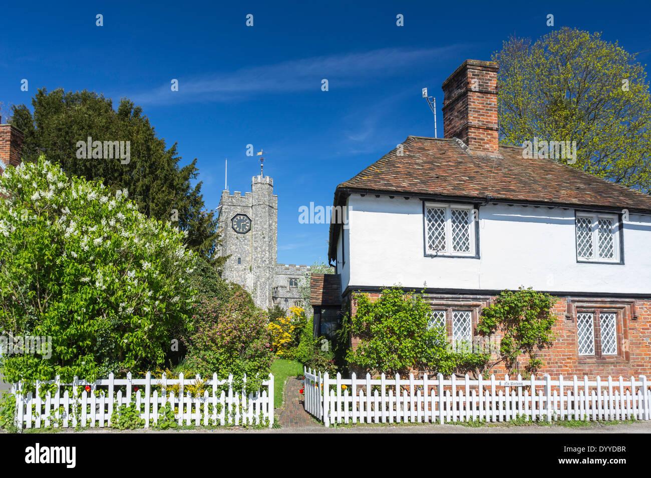 La place dans le joli village de Chilham Canterbury Kent nr Banque D'Images