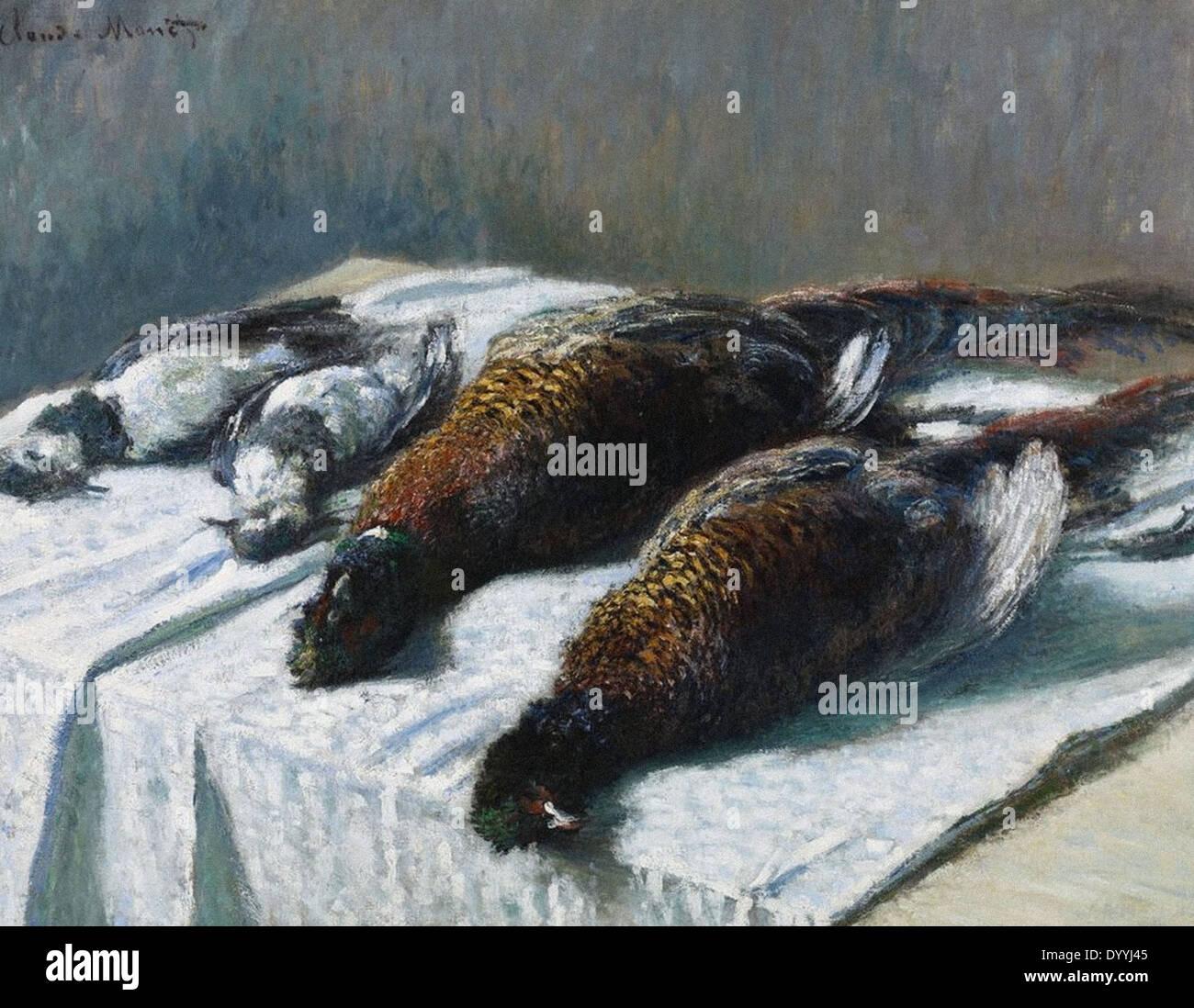 Claude Monet La vie toujours avec les faisans et les pluviers Photo Stock