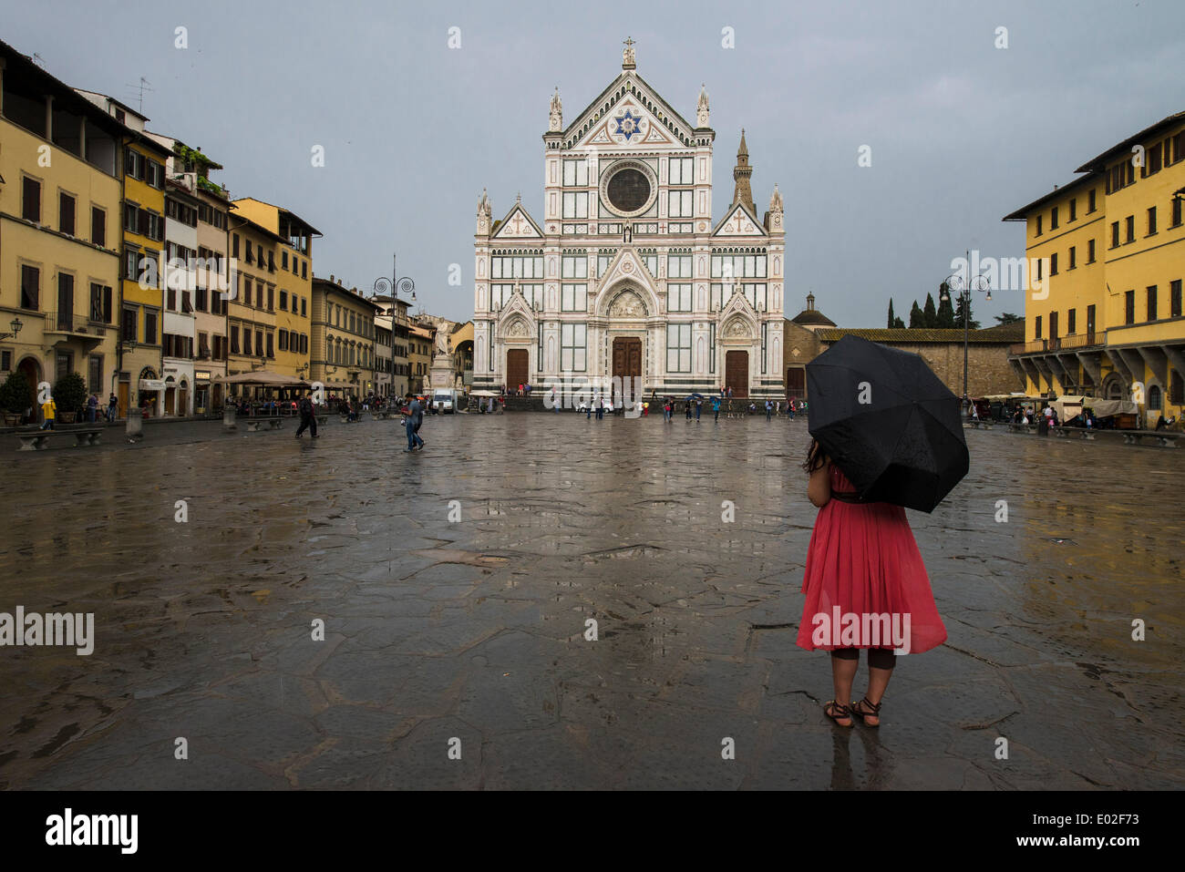Eglise de Santa Croce, Florence, Toscane, Italie Photo Stock