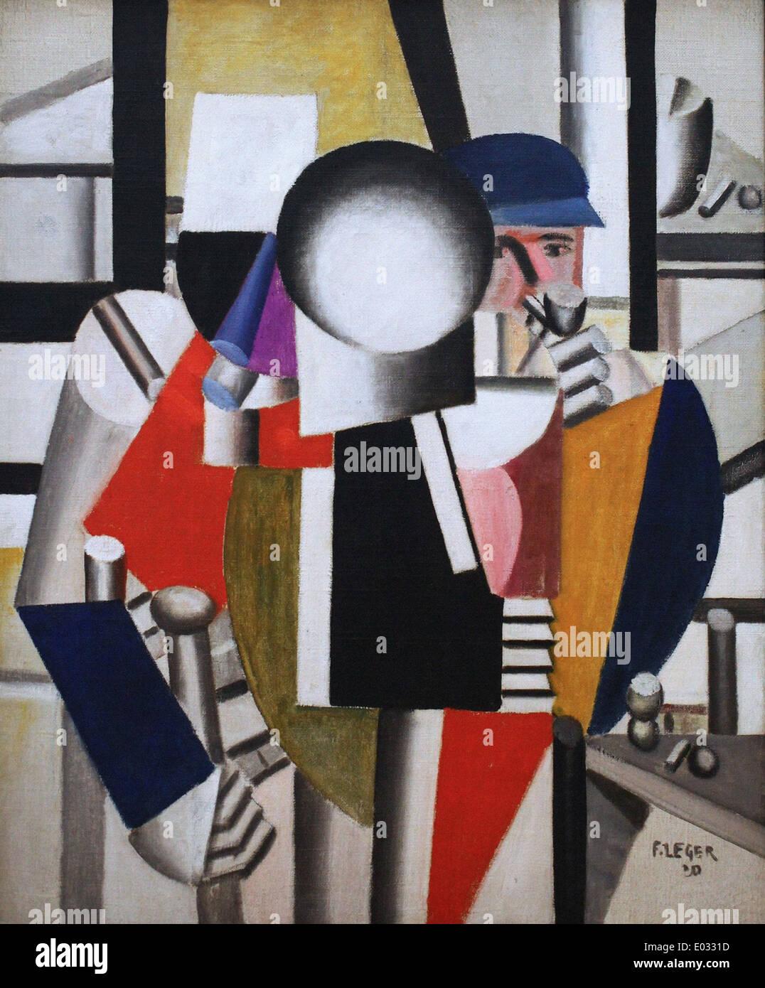 Fernand Léger Les trois camarades Photo Stock