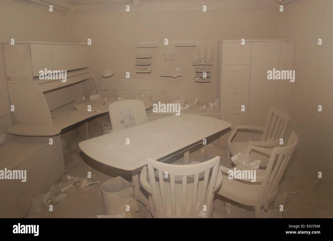 Un espace de bureau détruits dans un b timent jouxtant le world