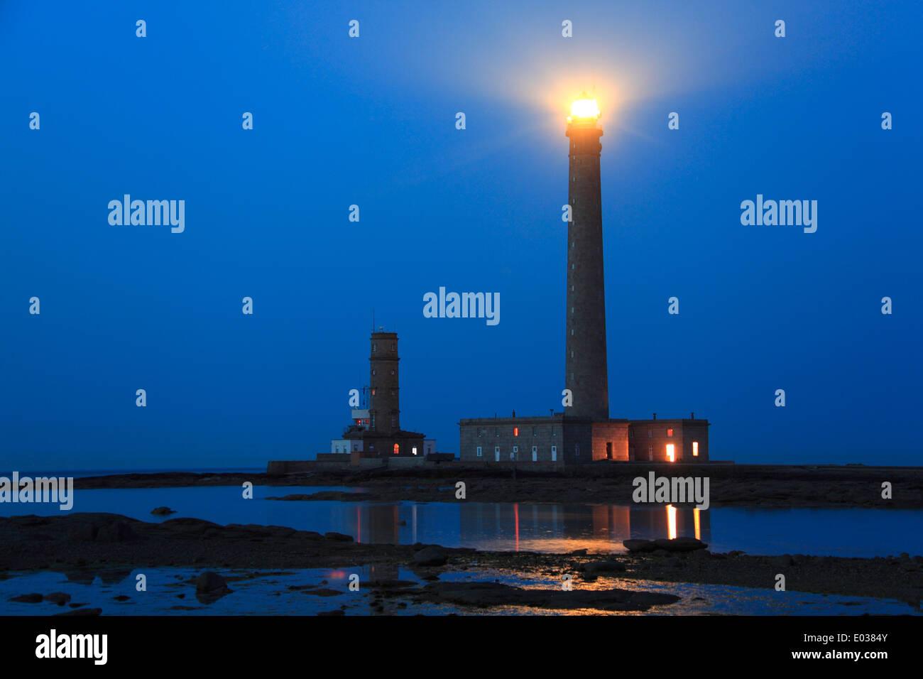 Photo du phare de gatteville (pointe de Barfleur lumière, Normandie, France Banque D'Images